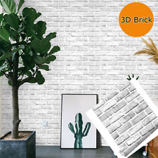 White Brick 3D Wall Panels Peel and Stick Wallpaper  Bedroom Background Decor