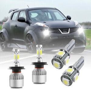 For Nissan Juke F15 - 4X White Xenon High/Low/Side LED Headlight Bulbs Set