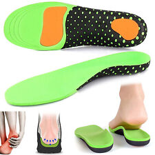 Orthotic Shoe Insoles Flat Foot Arch Support Inserts Cushion Heel Pain Therapy