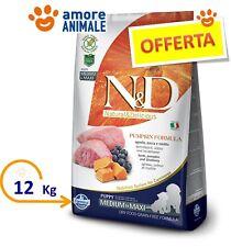 Farmina N&D Grain Free Pumpkin Puppy Medium Maxi Agnello, Zucca e Mirtilli 12 kg