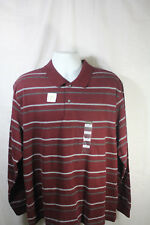 NEW St. Johns Bay Long Sleeve Burgundy Striped Suede Shirt Size XL NWT