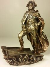 GEORGE WASHINGTON Crossing The Delaware Statue Figurine Antique Bronze Finish