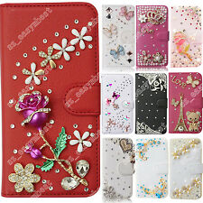 Case For Nokia 3D Cute Bling Crystal Leather Cases Cover Shiny Phone Sleeve