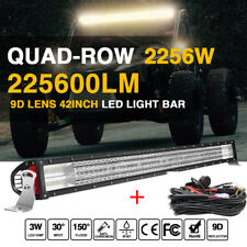"4-Row 42inch 2256W LED Light Bar Flood Spot Combo Off-roads pk 3row 44""43""46""48"""