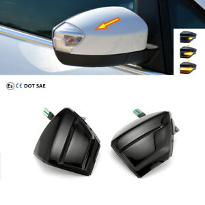 Paar für FORD C-MAX S-MAX KUGA C394 Dynamisch LED Spiegelblinker Schwarz