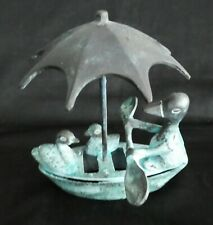 """Metal """"Ducks in a Covered Boat"""""""