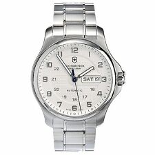 Victorinox Swiss Army Automatic Silver Tone  Stainless Men's Watch 241548 NWT