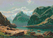 """Counted Cross Stitch Kit PANNA GTG-7097 - """"Lake in the mountains of Switzerland"""""""