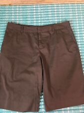 Women's Mossimo Nice Chino Brown Walking Shorts Stretch Mint Condition Size 10