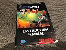 ^^^^ Earthworm Jim super Nintendo SNES instruction manual booklet good