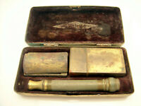 Vintage Gillette Ball End Safety Razor Pre Date Code In Case With Blade Safe