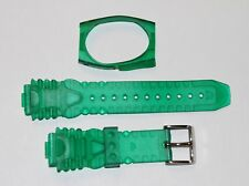 TechnoMarine Gel Plastic Watch Strap Band 17MM with Cover Clear Green - 1034