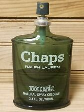 Ralph Lauren Chaps Musk Cologne 3.4oz 50% Full Vintage Spray