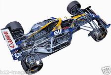 Williams F1 Mansell FW14 Motorsport cutaway  promo poster