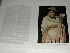 1943 magazine article on BOLIVIA, South America, WWII, tin mining, Color photos