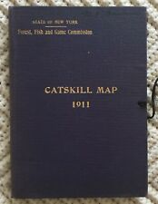 1911 MAP OF THE CATSKILL FORREST by NY STATE FORREST, FISH & GAME COMMISSION