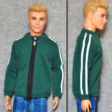 Barbie Doll Fashion Clothes Green Coat Sports Jacket For KEN Dolls