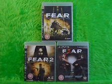 ps3 FEAR x3 Games 1 + 2 + 3 First Encounter Assault Recon Project Origin PAL UK