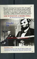 Palau 2015 MNH Sir Winston Churchill 50th Memorial 1v S/S Abraham Lincoln Stamps