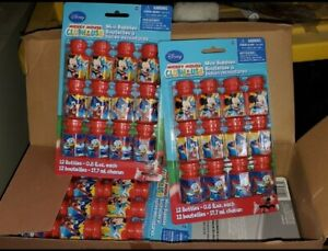 (X 2) Disney Mickey Mouse Clubhouse Mini Bubbles 12 pcs each. total 24cs.