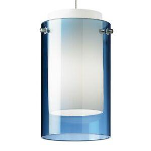 Tech Lighting FJ Mini Echo Pendant, Blue/Nickel LED - 700FJECPUS-LEDS930
