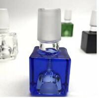 14mm Male Square Glass Slide Bowl - Green Blue Clear