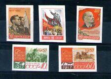 Unión Soviética 1957 40 Aniversario Revolución sin dentar Yvert 1988A-1992A