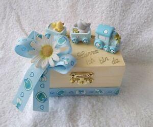 Geschenk-Box zur Geburt/Taufe Baby Junge Geldgeschenk Mitbringsel