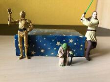 Star Wars Figur Yoda, Qui Gon & C3-PO & Anhänger