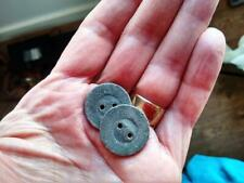 2 x Vintage Antique LEAD Weighted Buttons