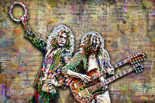 Led Zeppelin Robert Plant & Jimmy Page 8x12in Pop Art Poster Free Shipping US