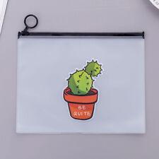 Clear Kawaii Cactus Pencil Case Pencil Box Pen Bags School Supplies Storage Bag