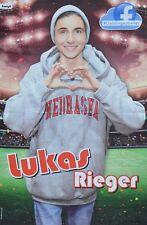 LUKAS RIEGER - A3 Poster (ca. 42 x 28 cm) - Clippings Fan Sammlung NEU