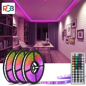 100 Feet LED 5050 Rooms Bars Strip Lights with Remote Color Changing Full Kits