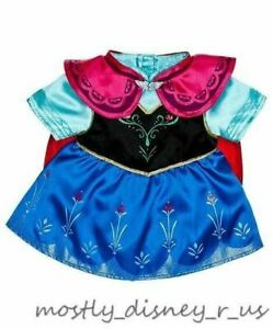 New Build a Bear Workshop Disney Frozen Anna sister Costume Dress Gown Exclusive