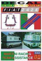 DECAL FIAT 242 E MARTINI RACING TEAM ASSISTANCE (01)
