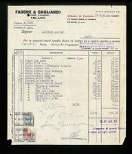 LETTERE COMMERCIALI FEBBRE & GAGLIARDI SOCIETA' ANONIMA  MILANO 1928