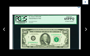 CHICAGO Fr. 2164-G $100 1969 Federal Reserve Note. PCGS Gem New 65PPQ.