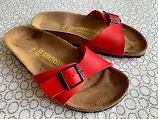 Birkenstock Madrid Red Sandals, Narrow Fit, EUR size 35, UK size 2.5, 225cms