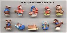 SERIE COMPLETE DE FEVES LE PETIT CHAPERON ROUGE 2004