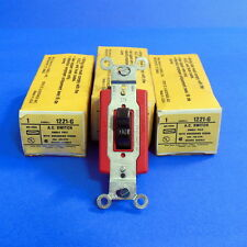 Hubbell 120-277V 20A Single Pole A.C. Switch 1221-G *New Lot Of 3* *Kjs*