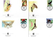 1988 PAPUA NEW GUINEA WWF FDC Butterflies - Set of 4 unaddressed
