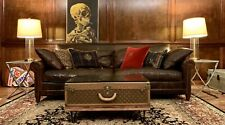 Aged Ralph Lauren McIntyre Brown Leather  Sofa