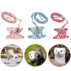 1x Small Pet Animal Ferret Rabbit Harness Leash Chest Strap Vest Lead Rope Soft
