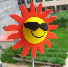 Red Petals Sunflower Flowers Antenna Balls Car Aerial Ball Antenna Topper Decor