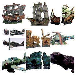 Sunken Aquarium Decorations - Submarines - Planes - Helicopters - Shipwrecks ...