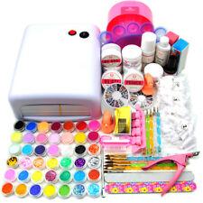 Complete Acrylic&UV Kit 36W UV Nail Dryer 42Acrylic Glitter Powder 500x Nail Tip