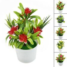 Artificial Bonsai Plant Fake Flower Floral Tree With Pot Home Room Decoration