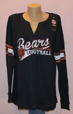 Chicago Bears Womens Thermal Plus Size Long Sleeve Shirt Navy Plus Size M - NFL