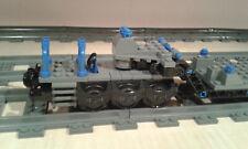 LEGO® City Eisenbahn Schwerlasttiefladewagon schwarz-blau MOC bricktrain 60198